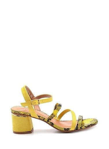 Derimod Kadın Sandalet (Zs3070-4701) Casual Sarı